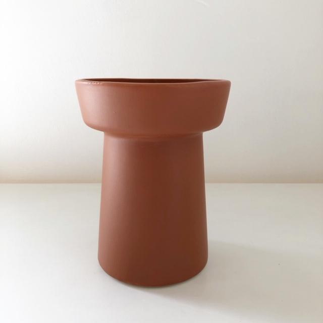 """ceramic pot FARM""""JESSIKA"""" /Brown 鉢カバー"""