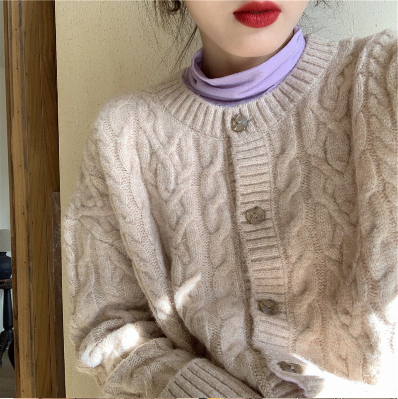 〈カフェシリーズ〉スタイルアップニットカーディガン【style up knit cardigan】
