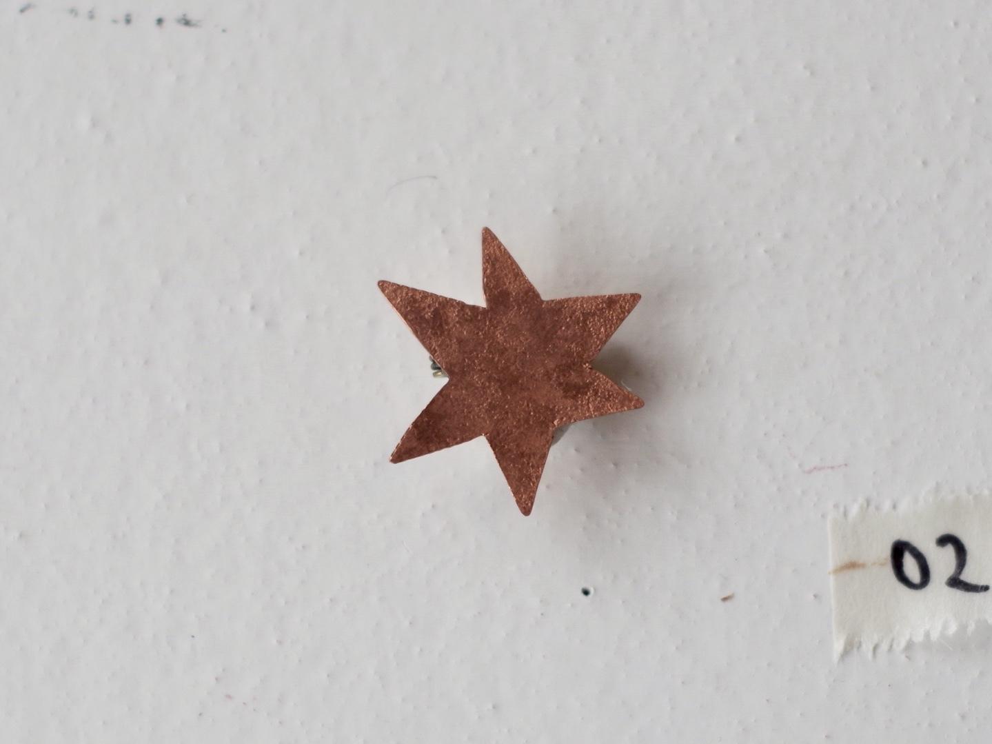 いちばん星のブローチ02(銅)