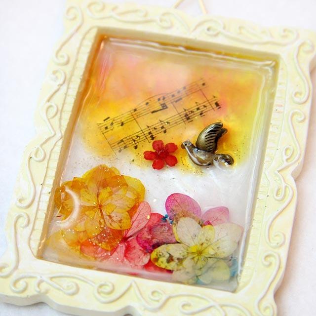 ミニ花額☆音楽の贈り物