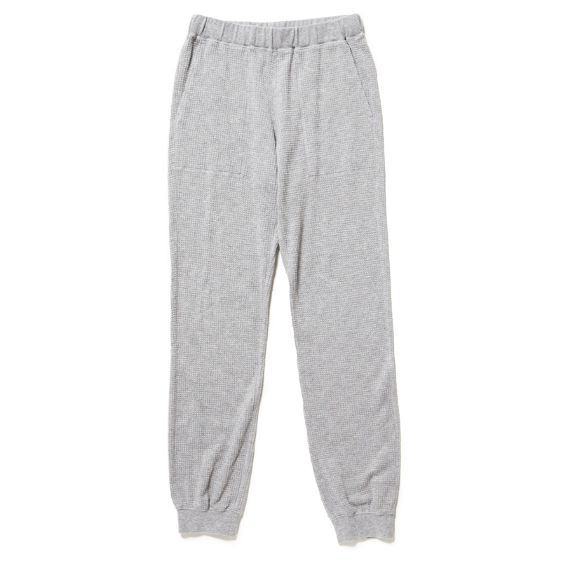 SEASONING LOGO THERMAL PANTS  - GRAY