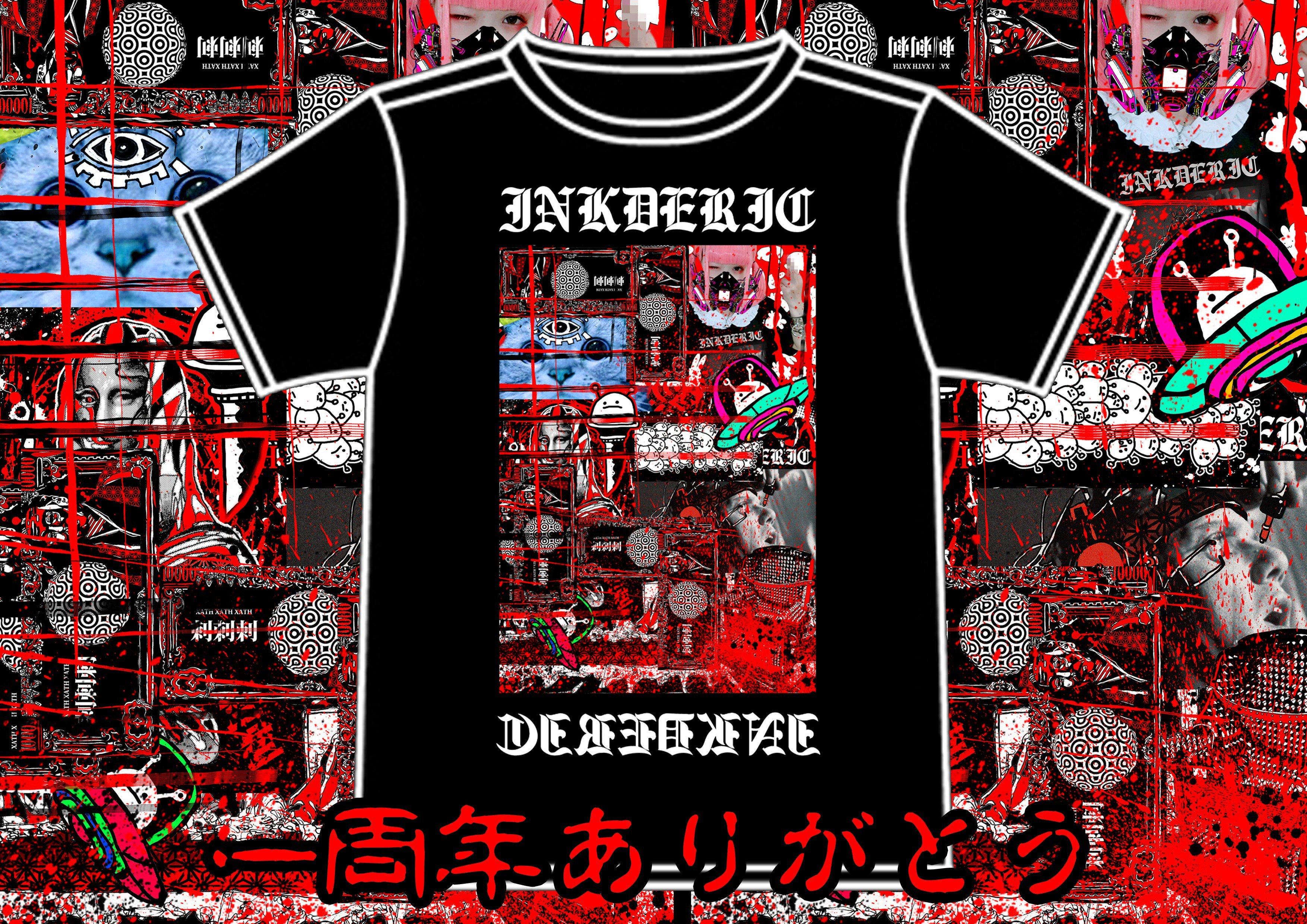INKDERIC 一周年コラージュTシャツ