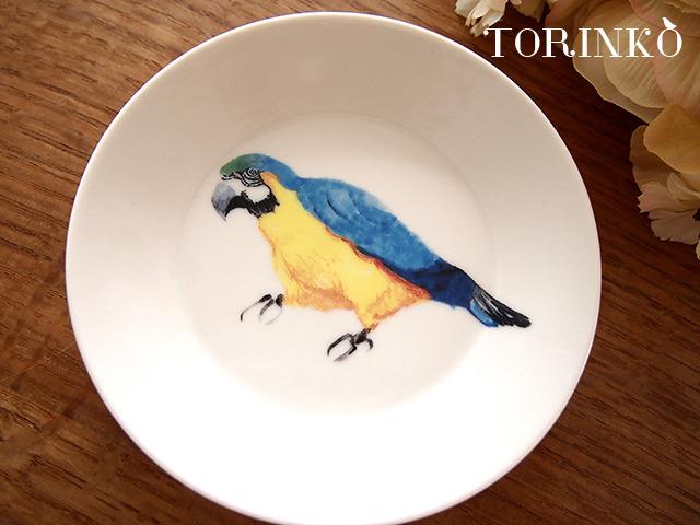コンゴウインコ お皿 中サイズ(鳥の食器)