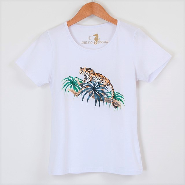 サファリTシャツ 白