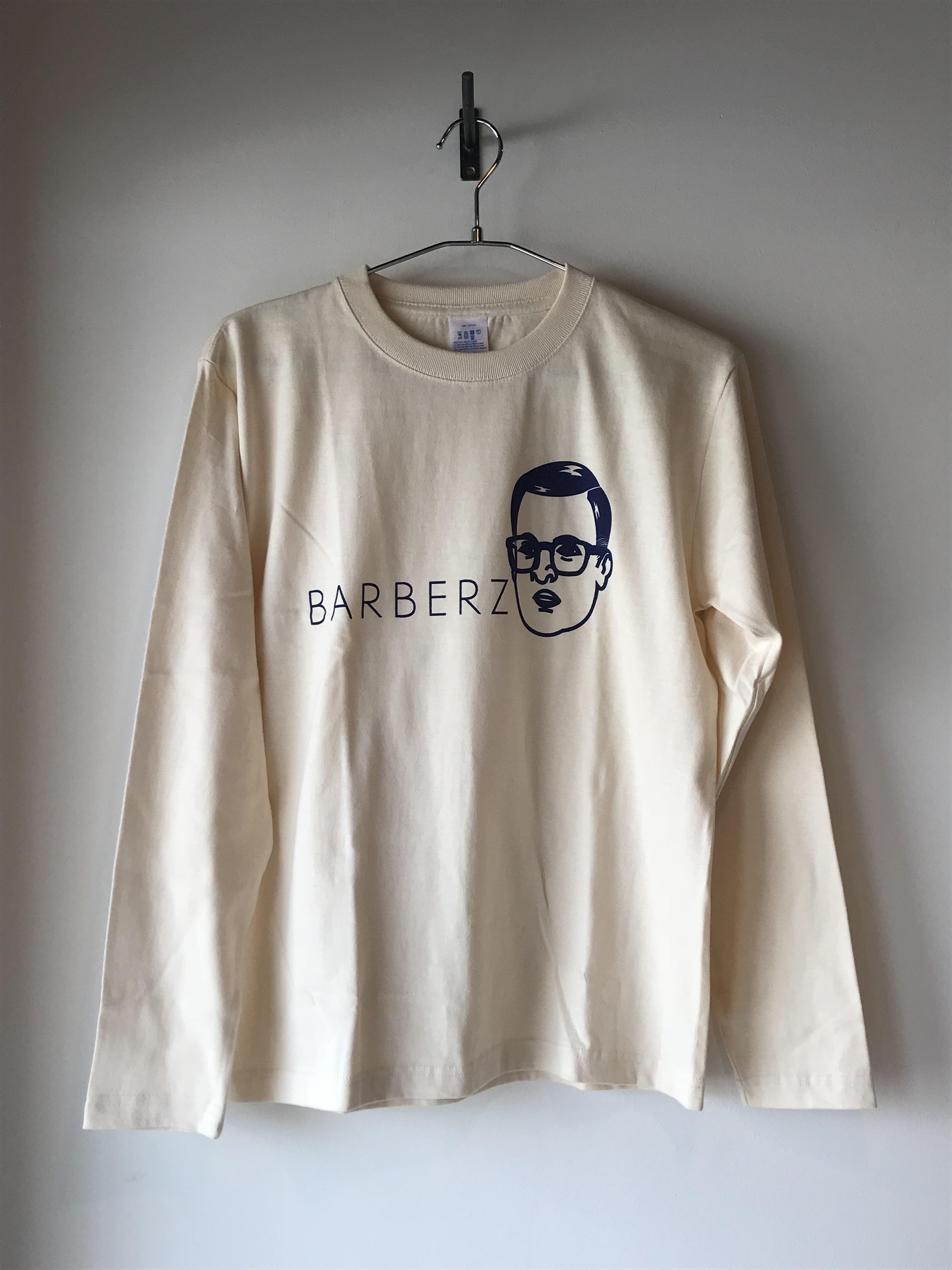 BARBERZ 刈り上げおじさん長袖テイシャツ  ナチュラル
