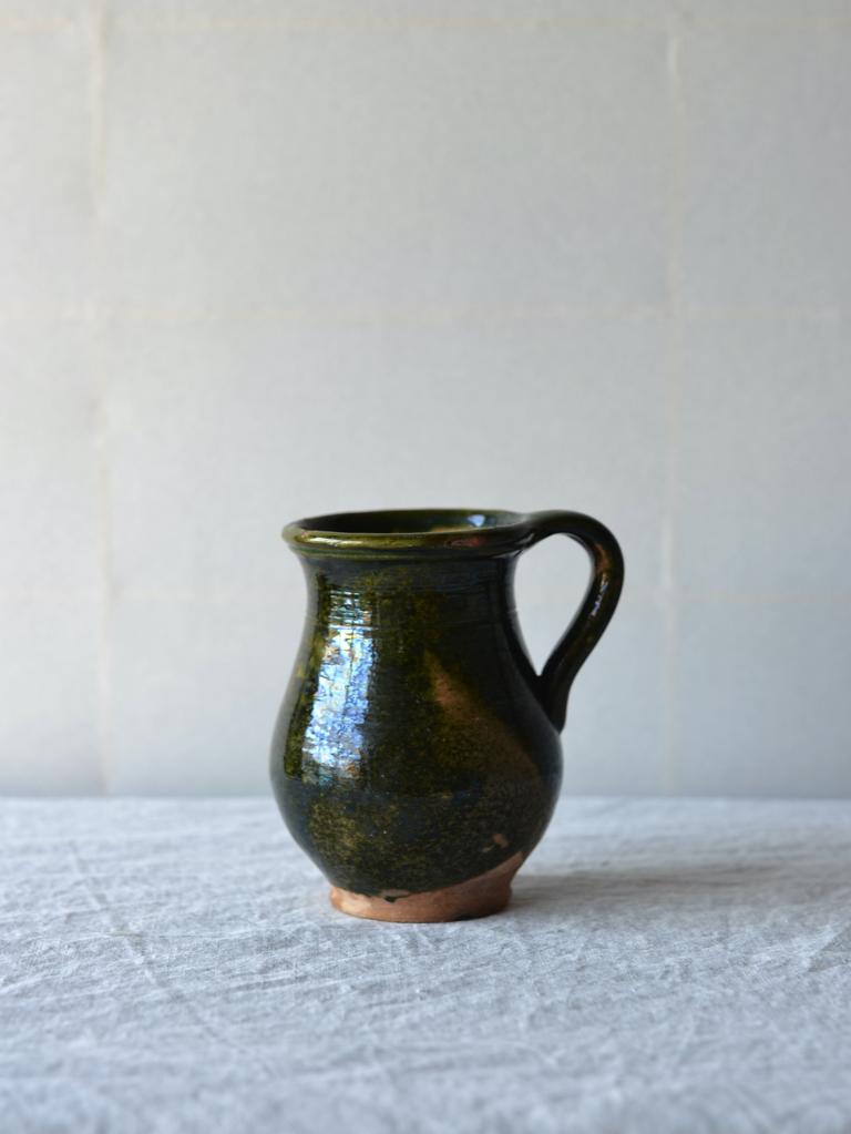antique | グリーンポット-green handle pot