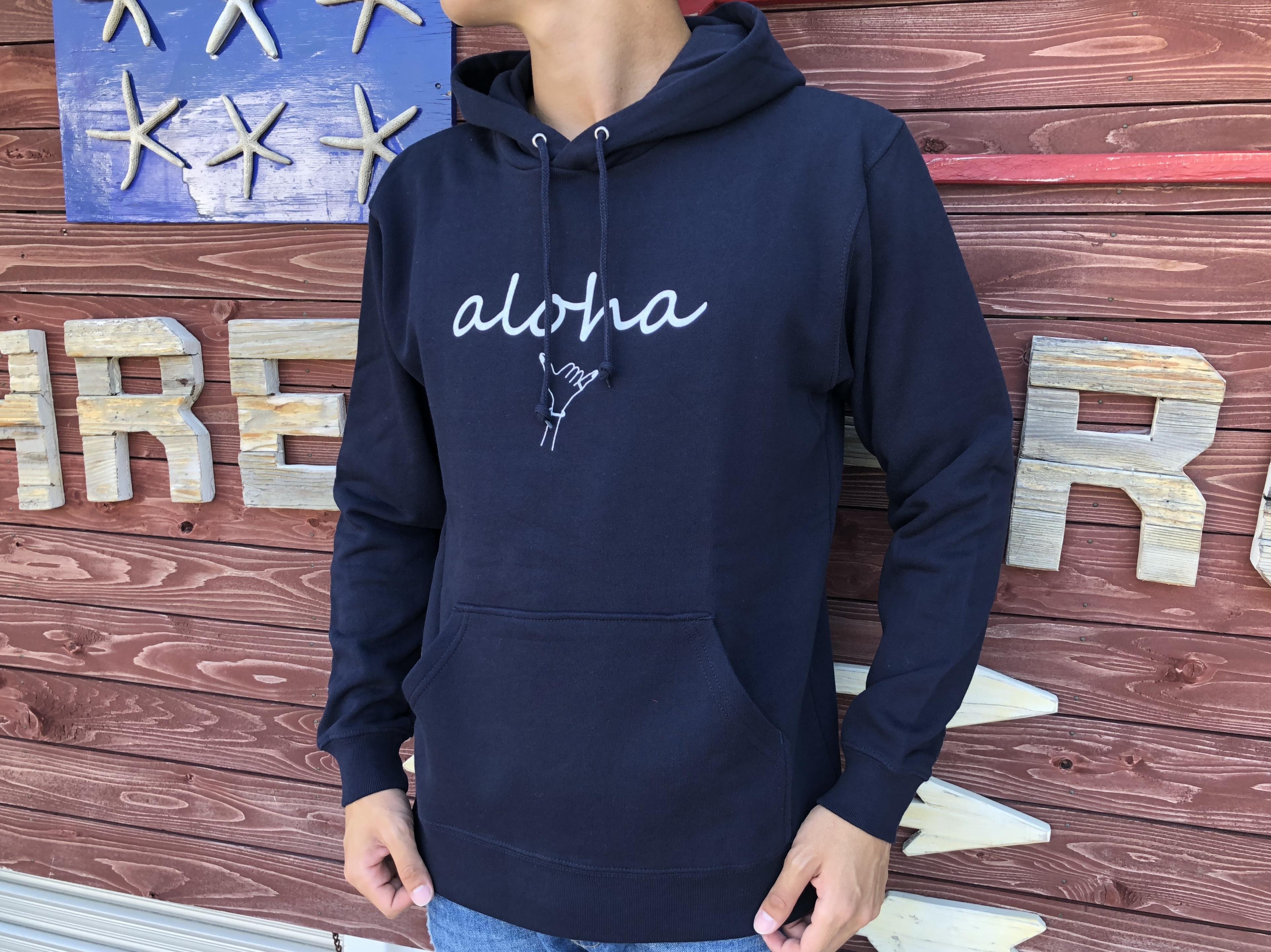 alohaサイン パーカー(navy)