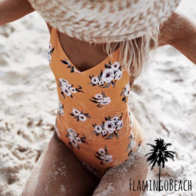 【FlamingoBeach】flower monokini モノキニ