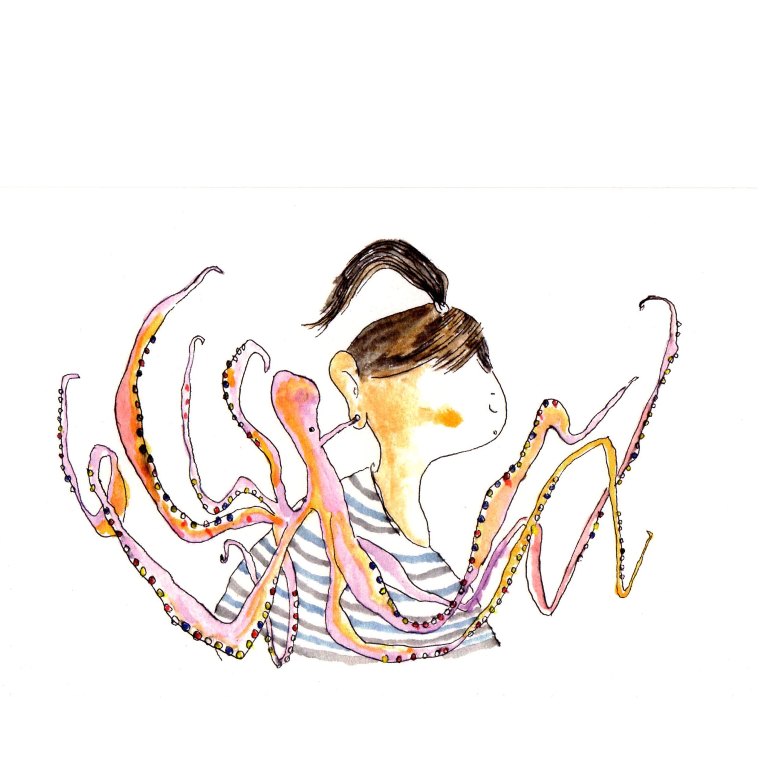 タコのイヤリング Octopus earring