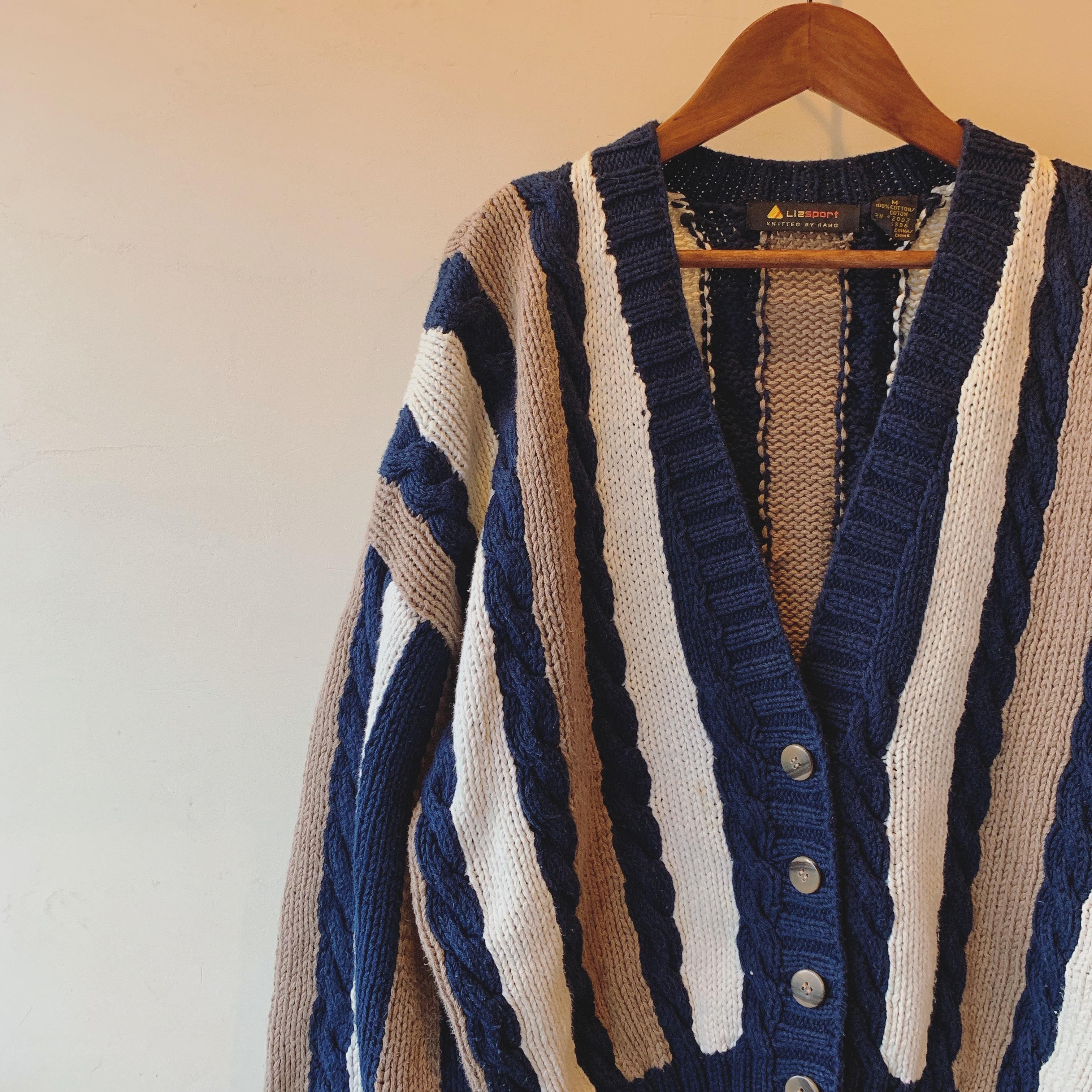 vintage cotton knit cardigan