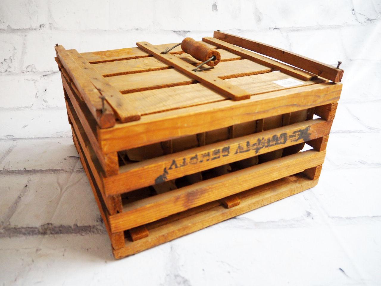 品番1391 エッグ木箱 エッグボックス 木製  ヴィンテージ