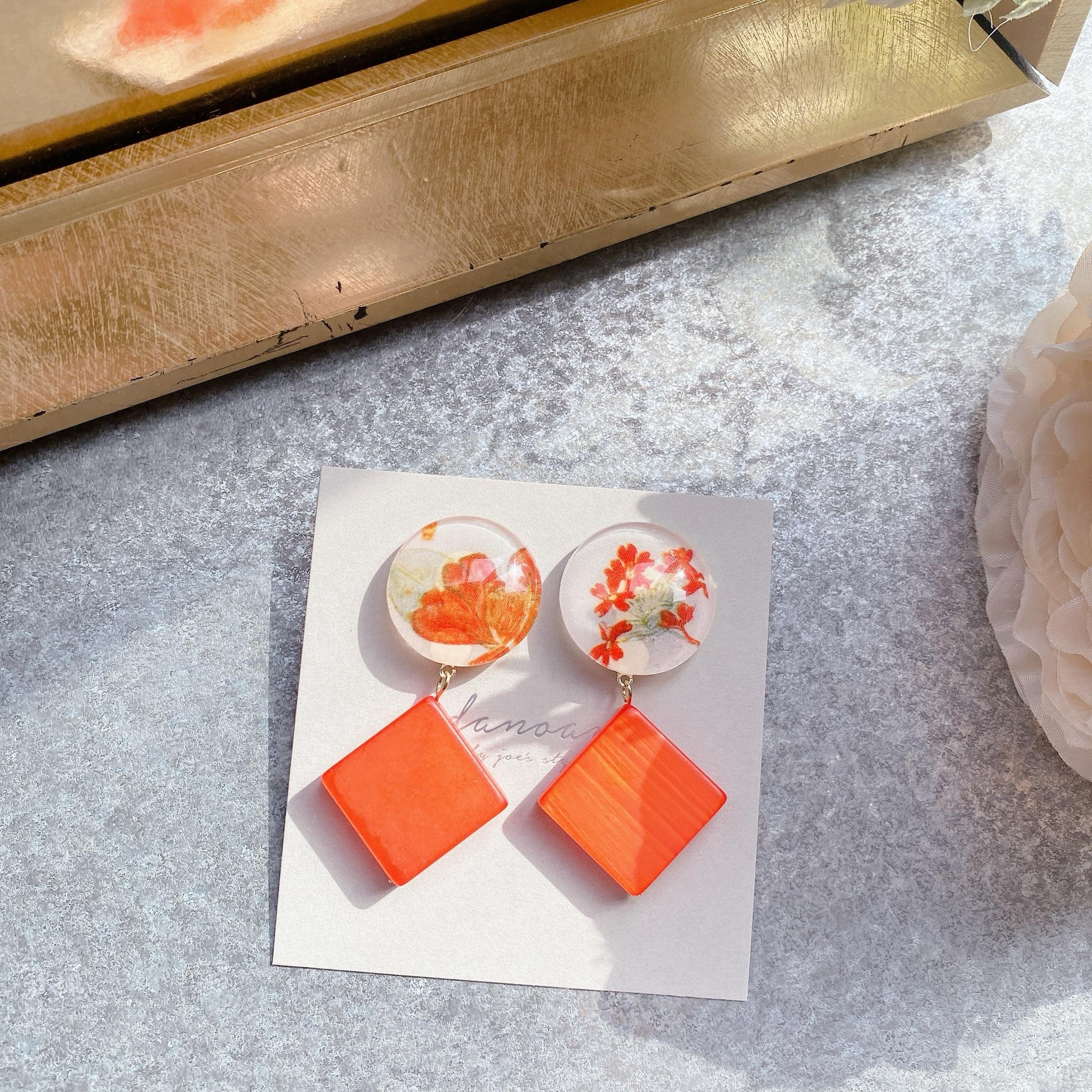 """"""" Earrings NO.danoan-102″ ビビットオレンジリバティ"""