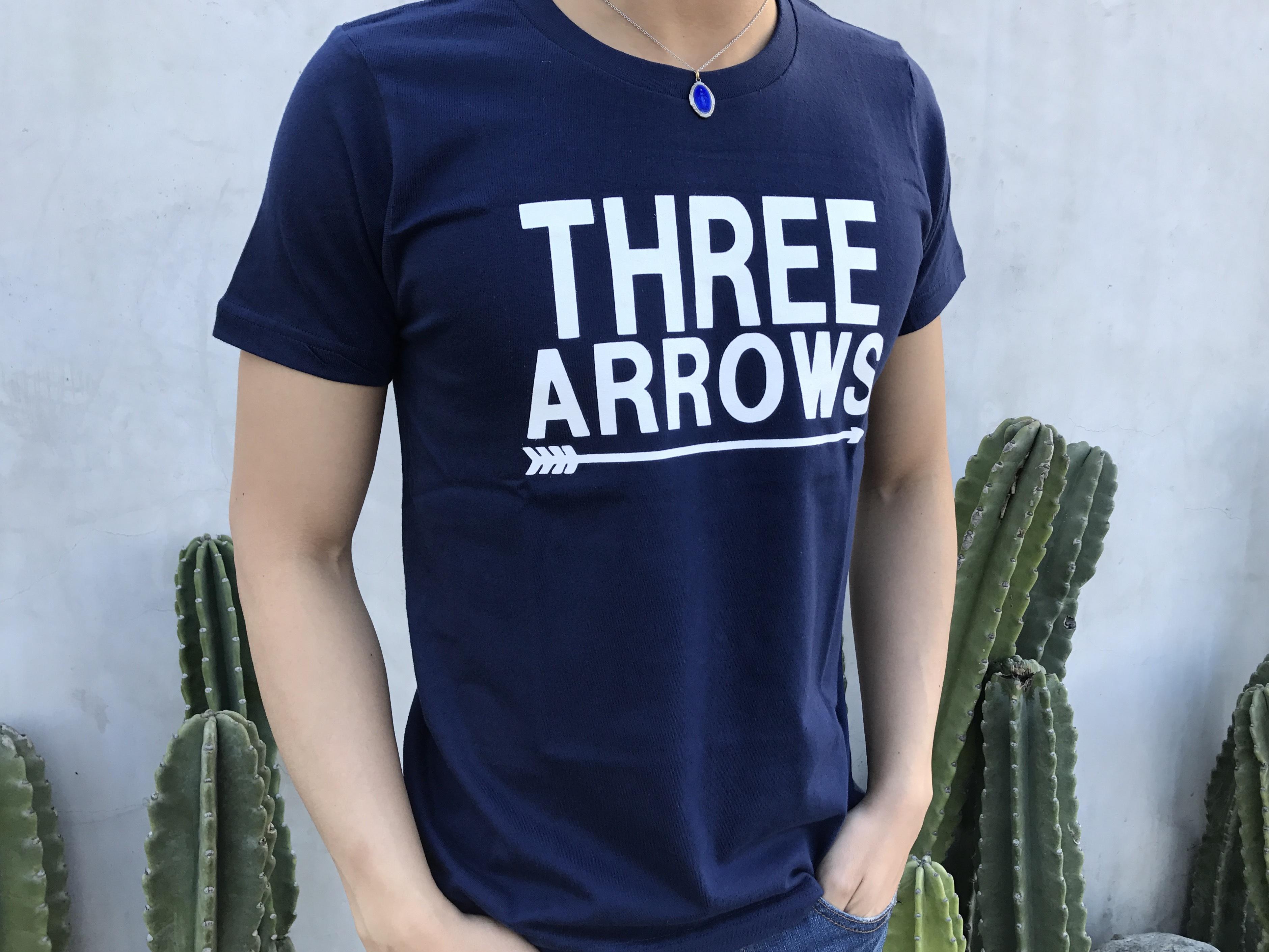 BIG THREE ARROWS Tシャツ(navy)