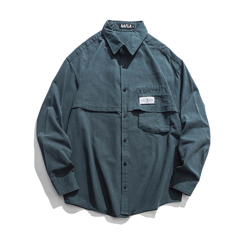 【UNISEX】アウトドア カラーシャツ【2colors】