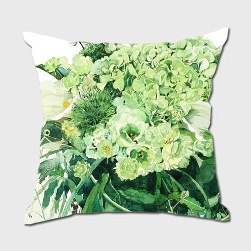 Green Bouquet クッション  クッションカバー  +本体