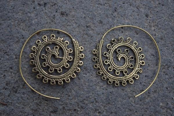 真鍮ピアス -華- 【India】
