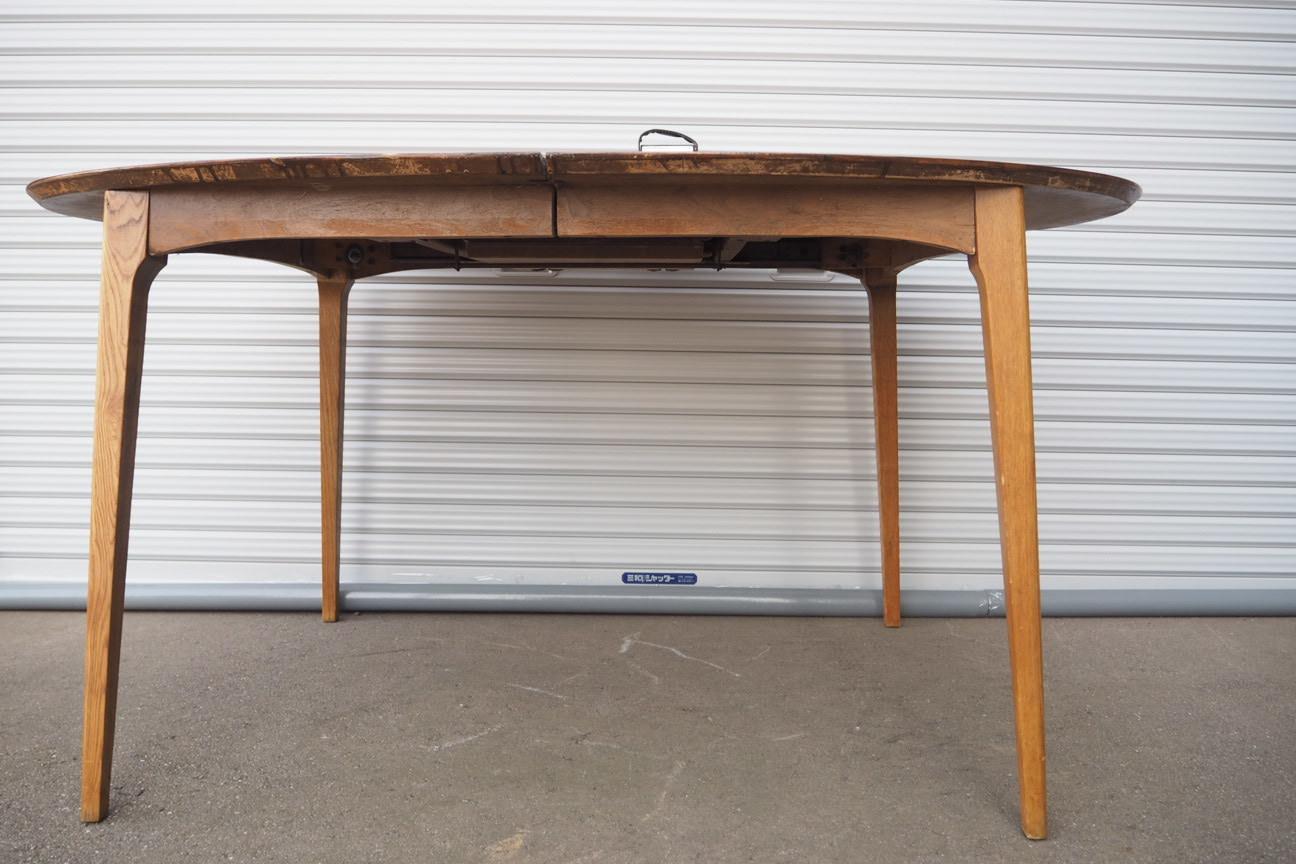 品番0470 1970年代 4通りのテーブル長さに変えれるオシャレなテーブル 011