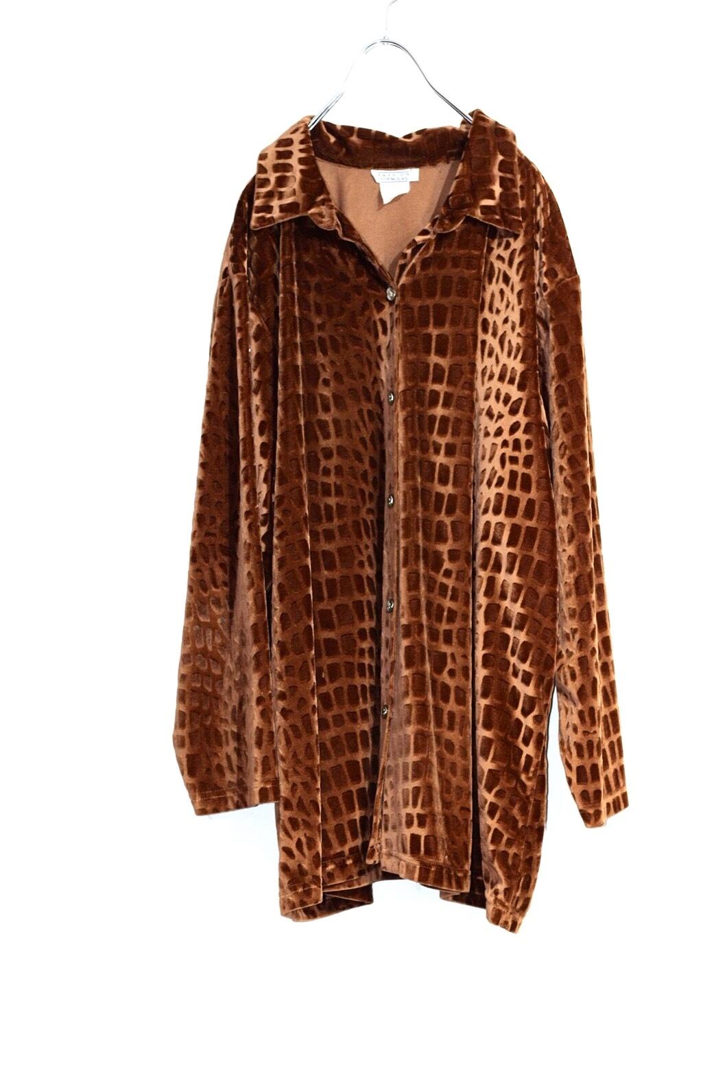 velours leopard shirt
