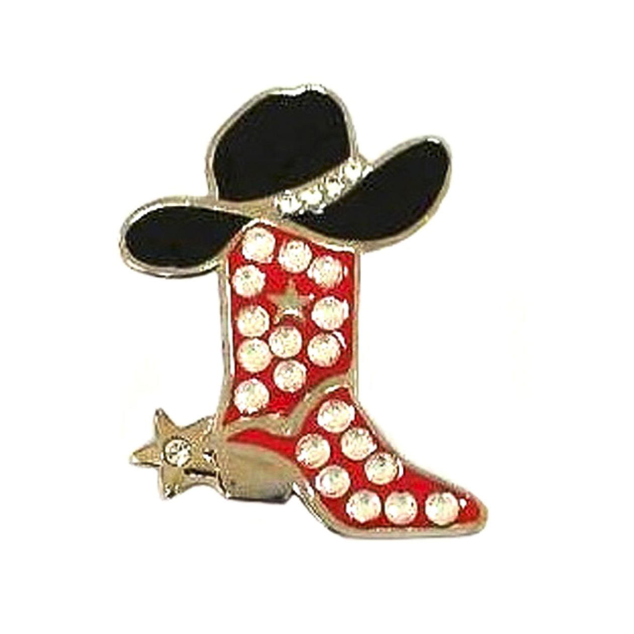142. Cowgirl Boot Red