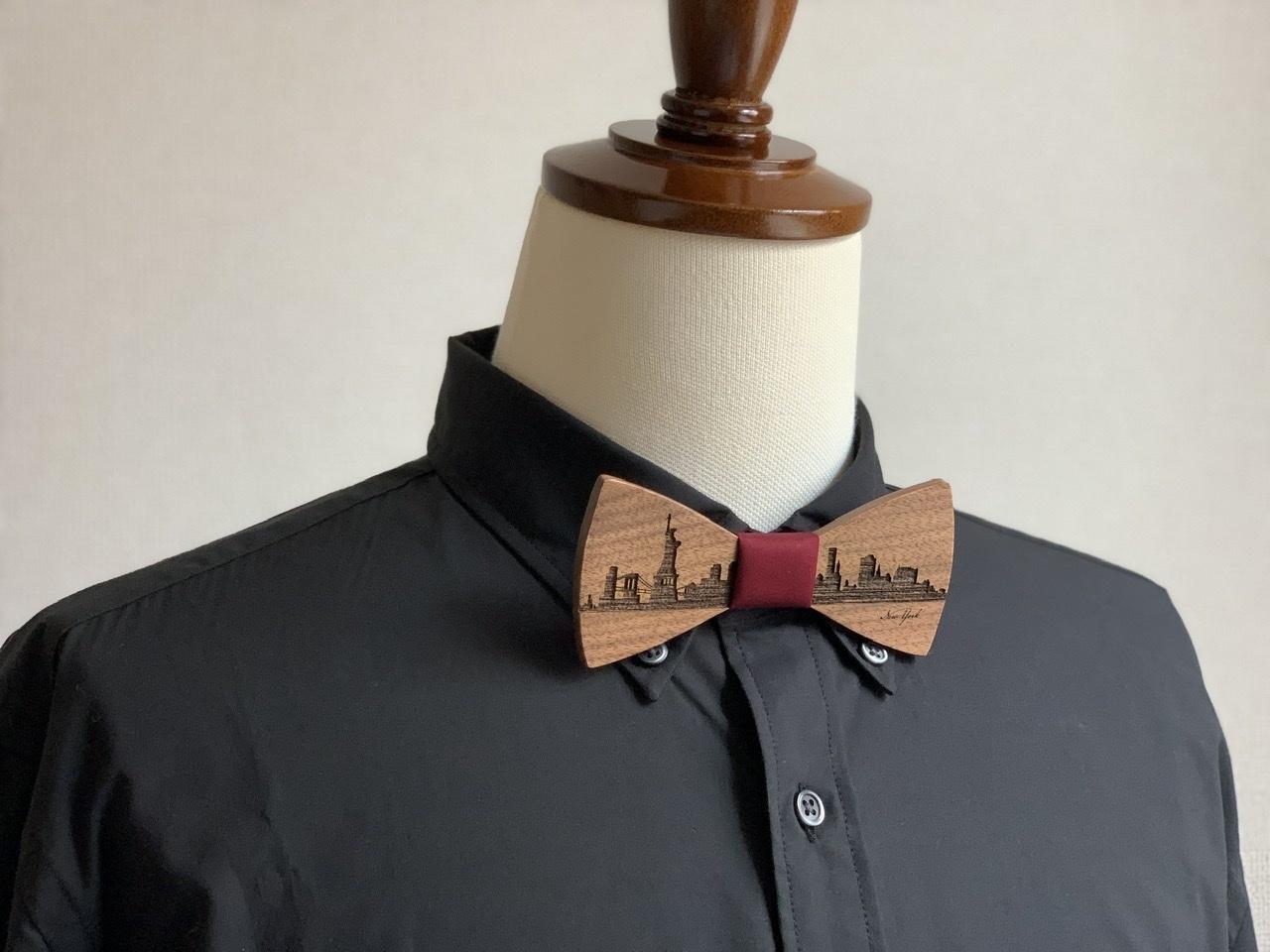 「NYの街並み」木製 蝶ネクタイ #CityContrast NY - 画像4