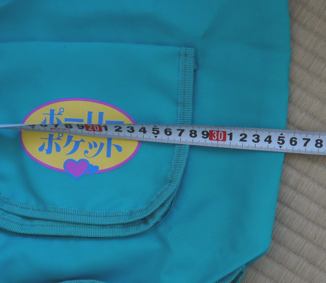 ポーリーポケット ブルーの巾着バッグ