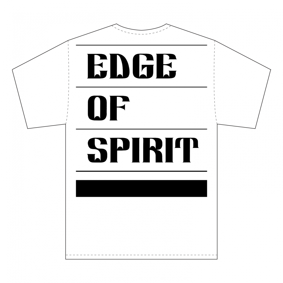 "EDGE OF SPIRIT ""QP"" S/S Tee [WHITE]"