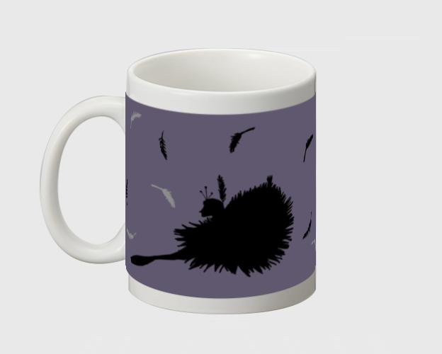 黒鳥 マグカップ - 画像3
