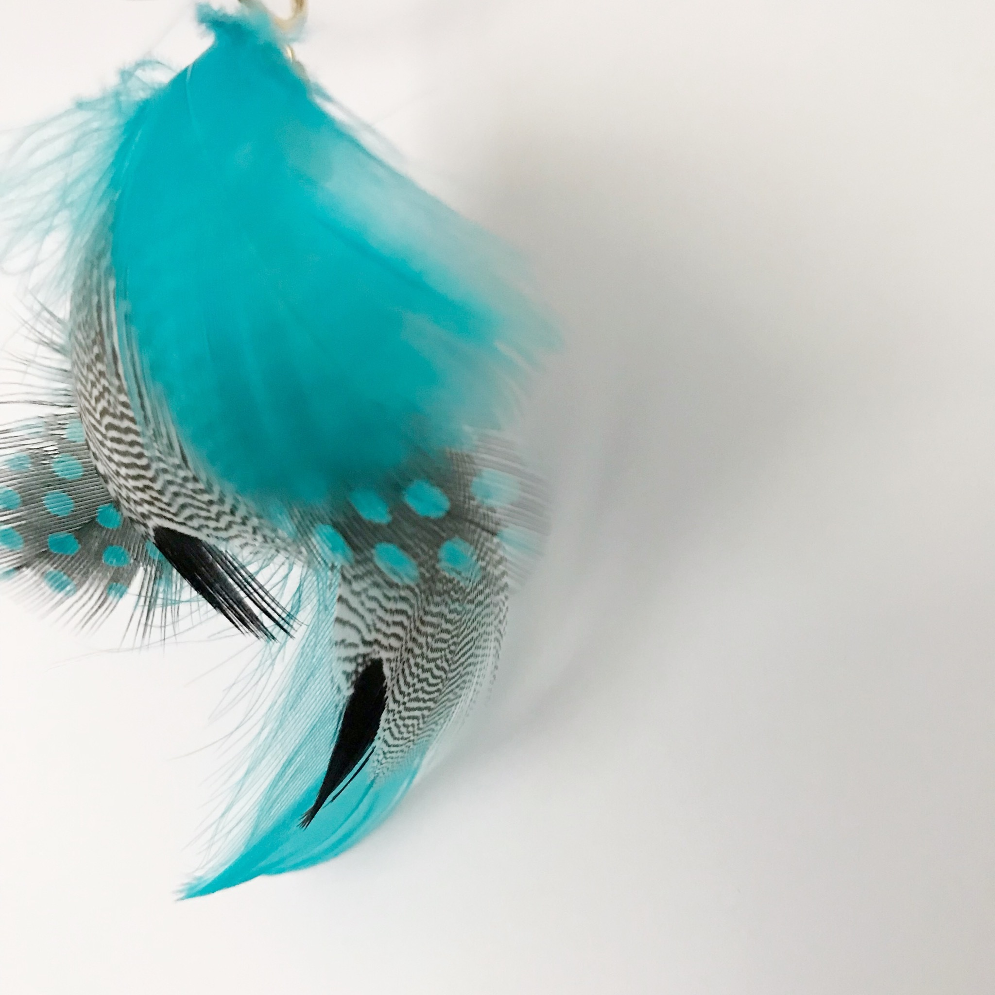FEATHER 片耳用 / turquoise