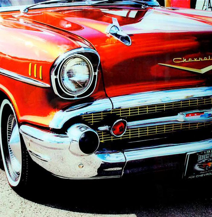 品番0015 新品 ガラスア―ト 9001 『Chevrolet シボレー』 額装 壁飾り 飾り板 インテリア アメリカン雑貨