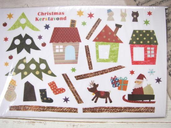 ウォールステッカー*キッズクリスマスタウン SSサイズ/セレクト雑貨