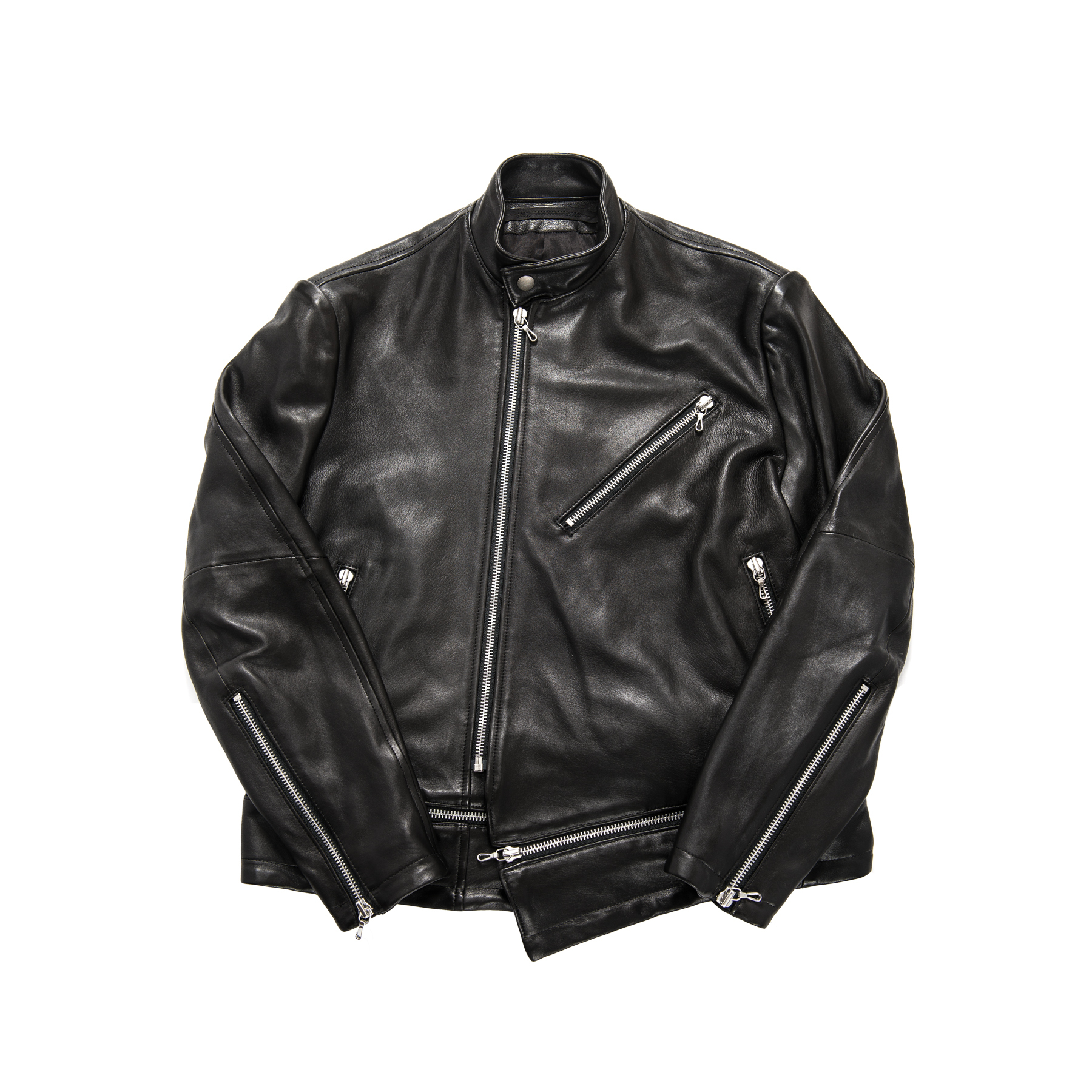 597BLM13-BLACK / アタッチドライダースジャケット
