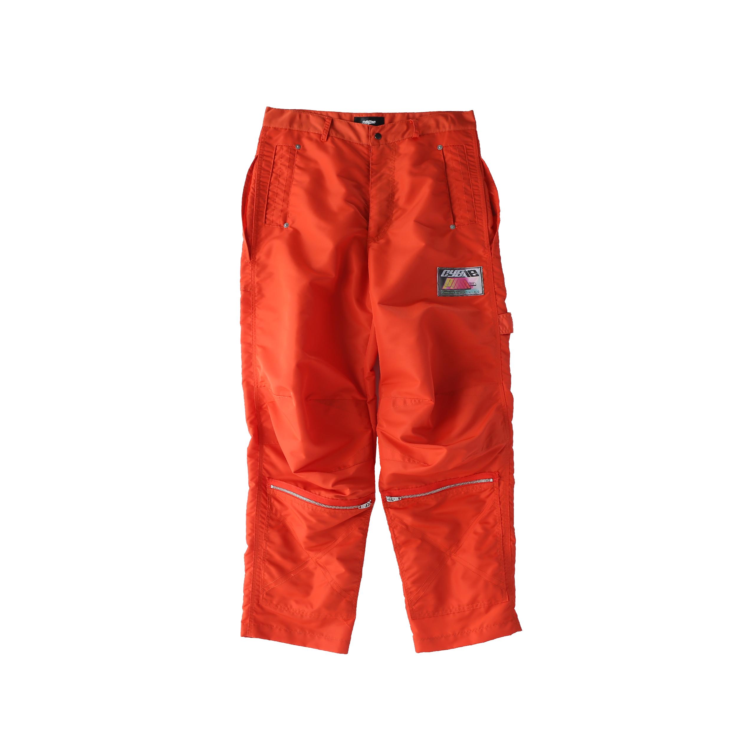 Nylon painter pants / ORANGE - 画像1