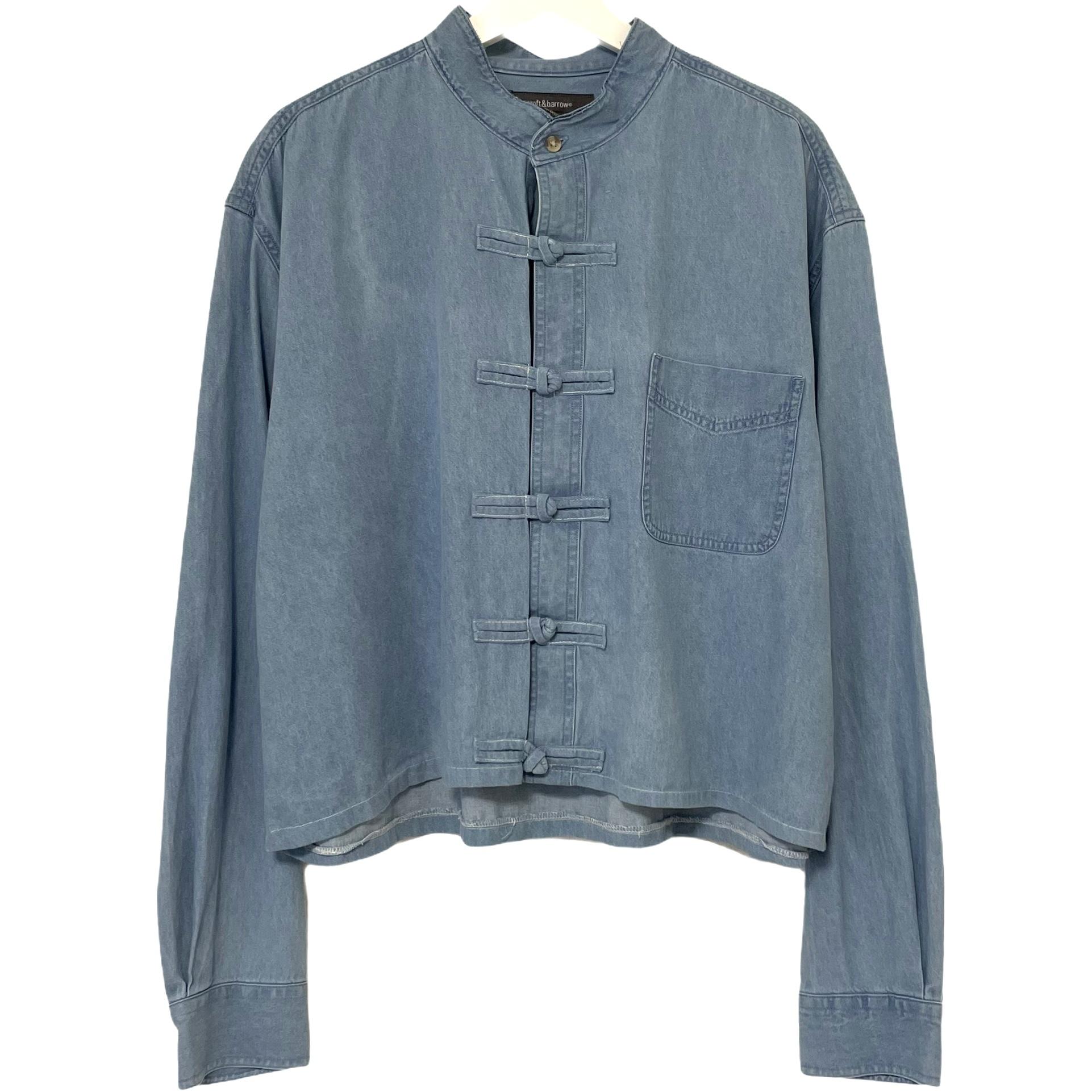 Remake China Shirt 【 Denim Light Blue Short 】