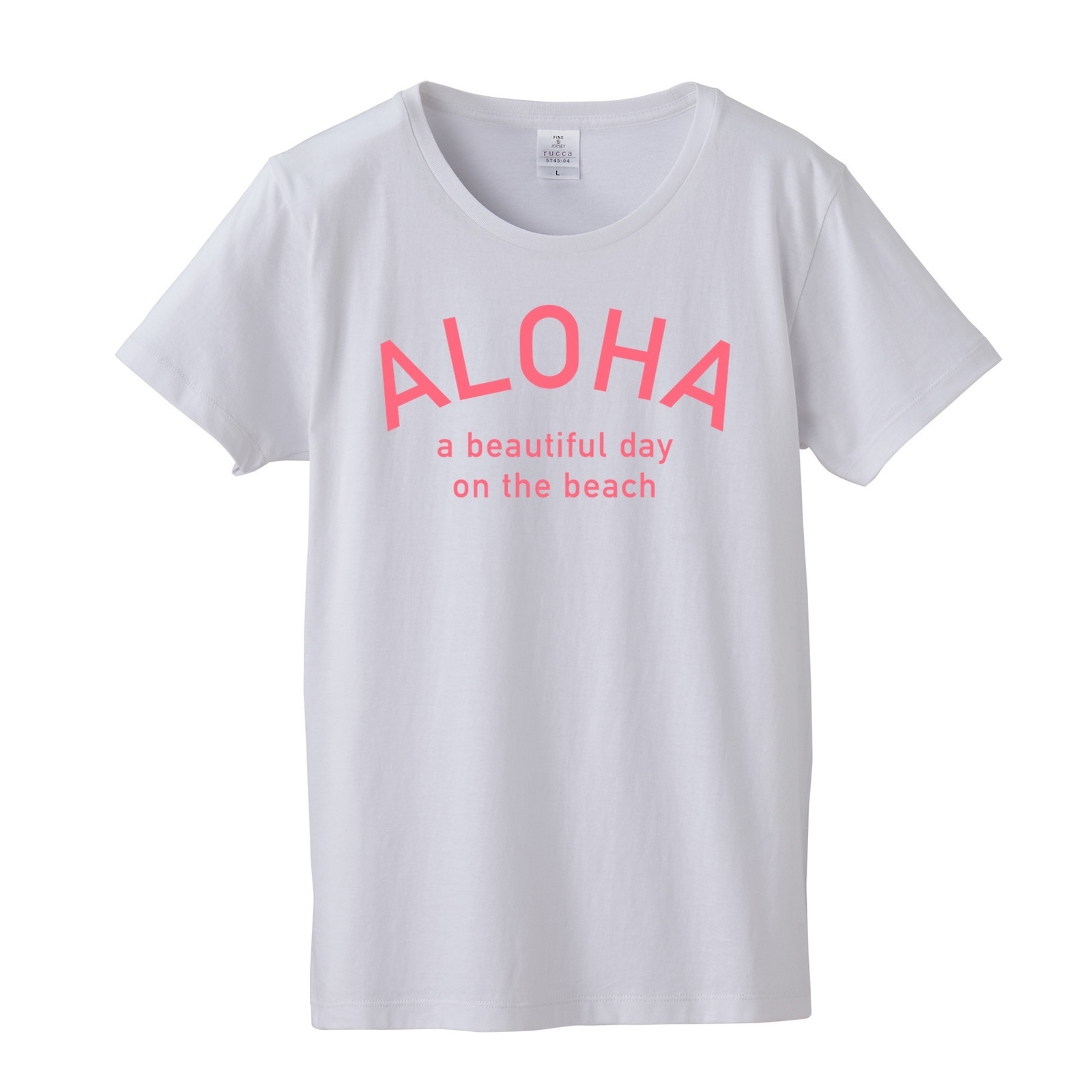 ★Ladies★ ALOHA Tee - White/Pink