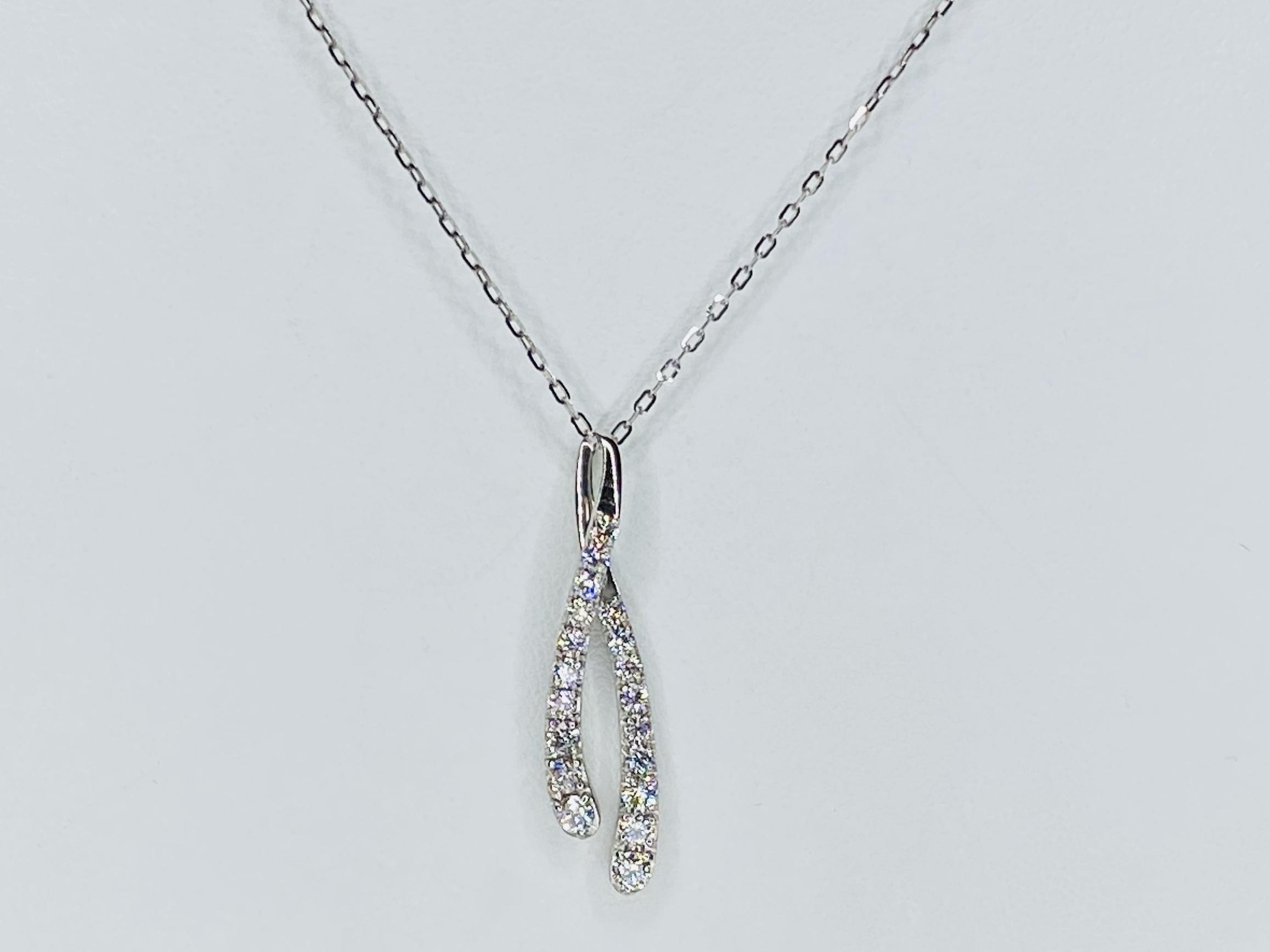PT900/850 0.7ct ダイヤモンドネックレス ○