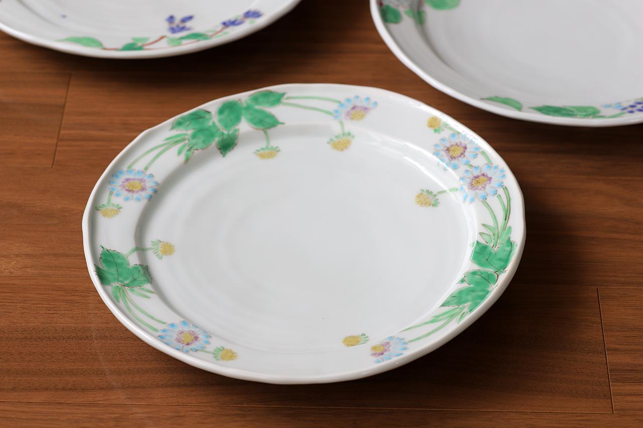 藍水 マツムシソウ 8寸皿 うつわ藍水 波佐見焼 直径約25cmのプレート