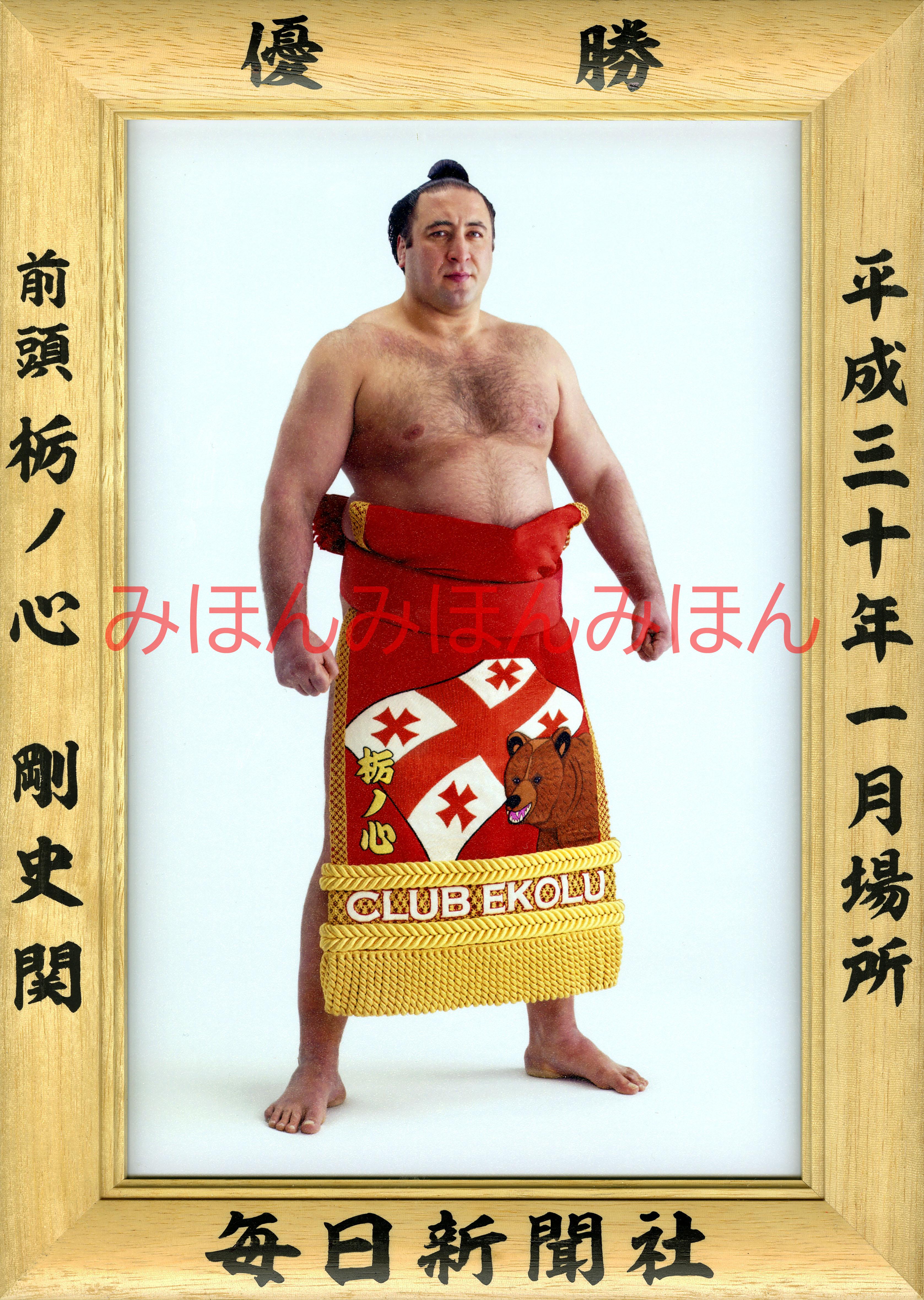 平成30年1月場所優勝 前頭 栃ノ心剛史関(初優勝)