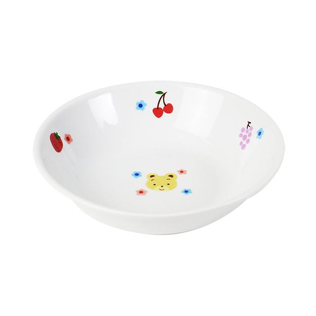 【1159-1280】強化磁器 12.5cm 深小皿 フルーツべあ