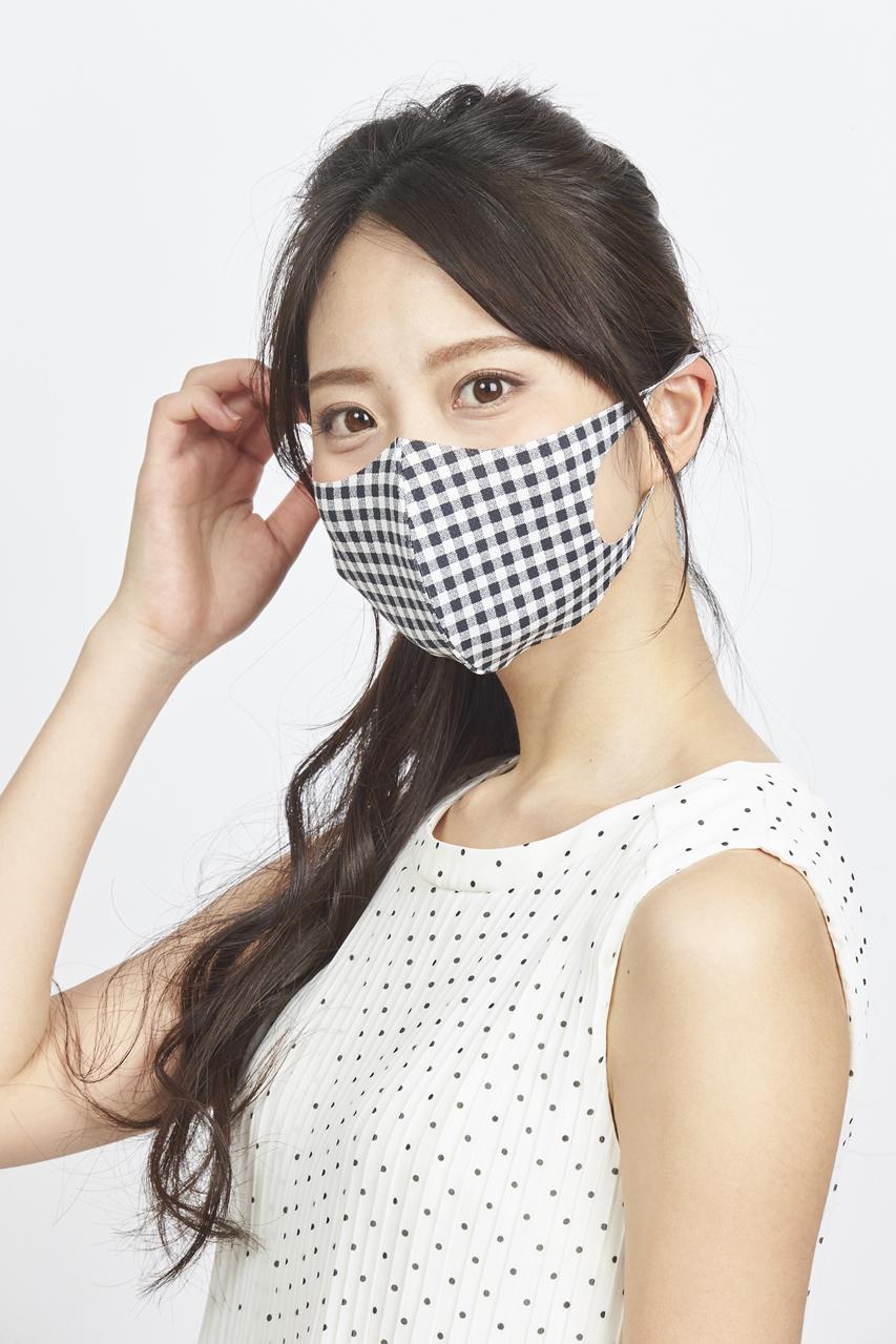 夏用マスク クールピッタ新柄 Sサイズ 2枚セット  接触冷感・UVカット・吸汗速乾  #109