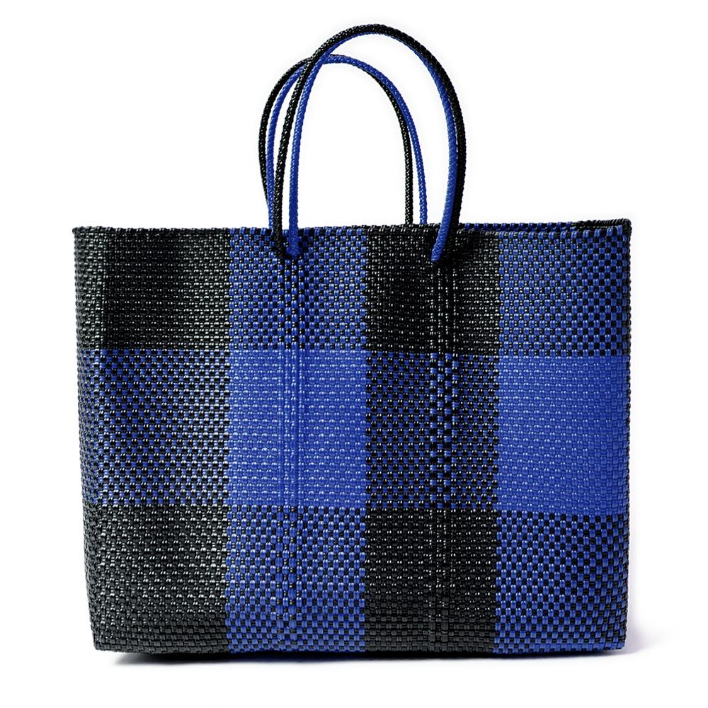 MERCADO BAG TABLERO- NAVY x Black(L)