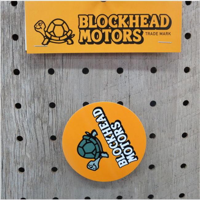 BLOCKHEAD MOTORS オリジナル丸ステッカー