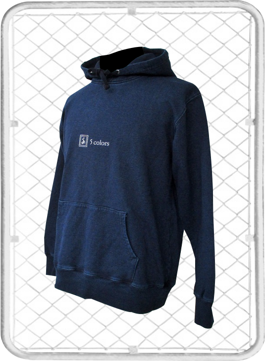 5colors hoodie / ファイブカラーズ バックプリント デニム パーカー