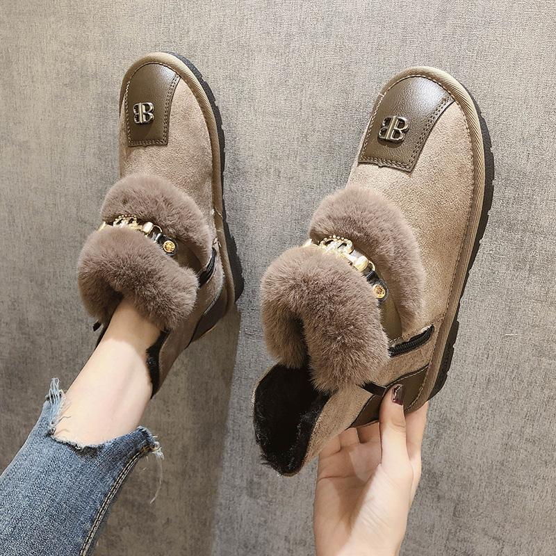【shoes】定番切り替え人気暖かいファッションブーツ24617881
