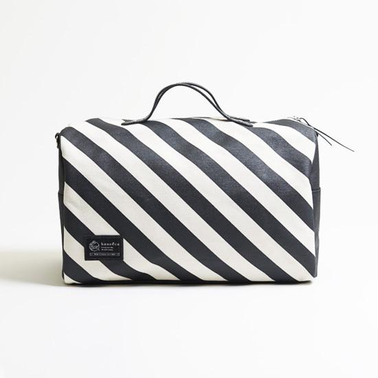 duffle bag/black ダッフルバッグ / 墨 x 縞・鱗・水玉
