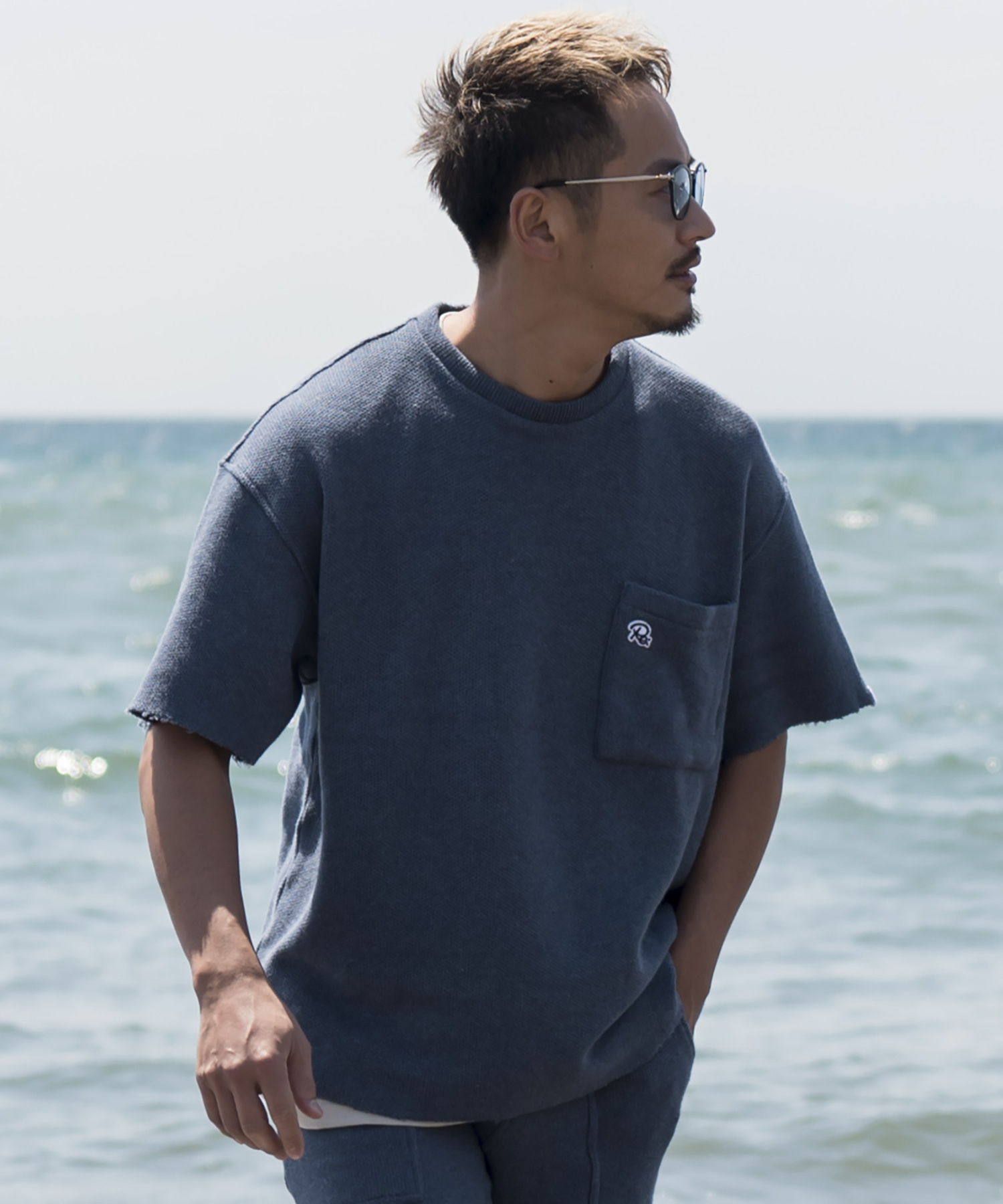 VINTAGE SUMMER KNIT BIG T-shirt[REC196]