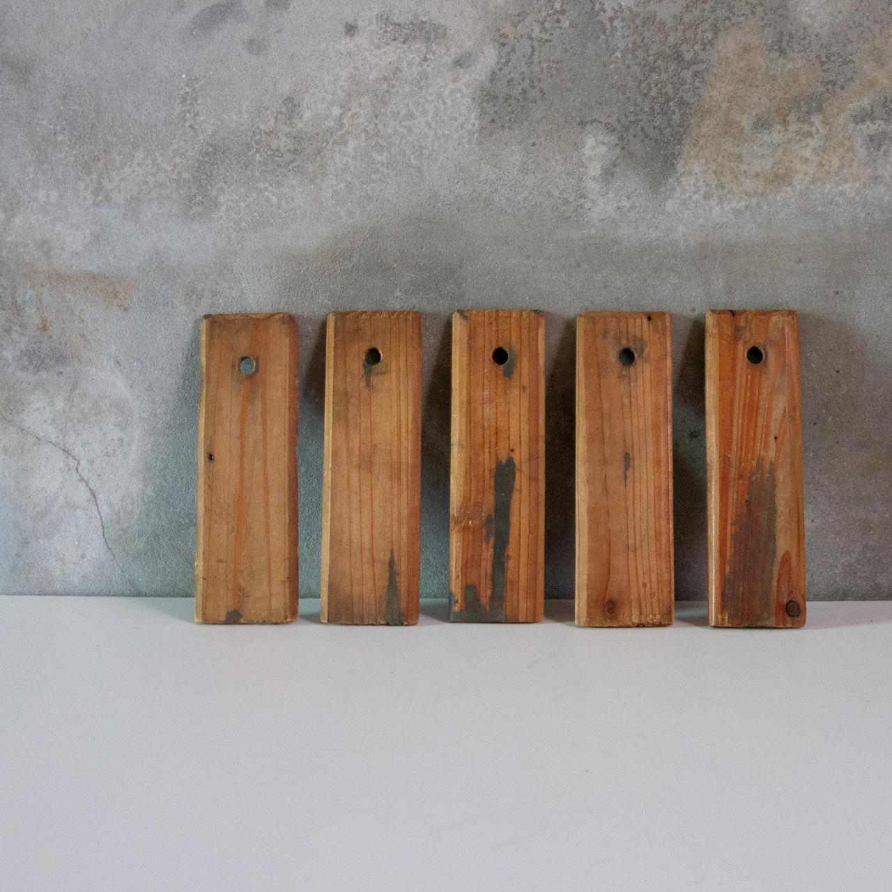 小さな木札 5枚set