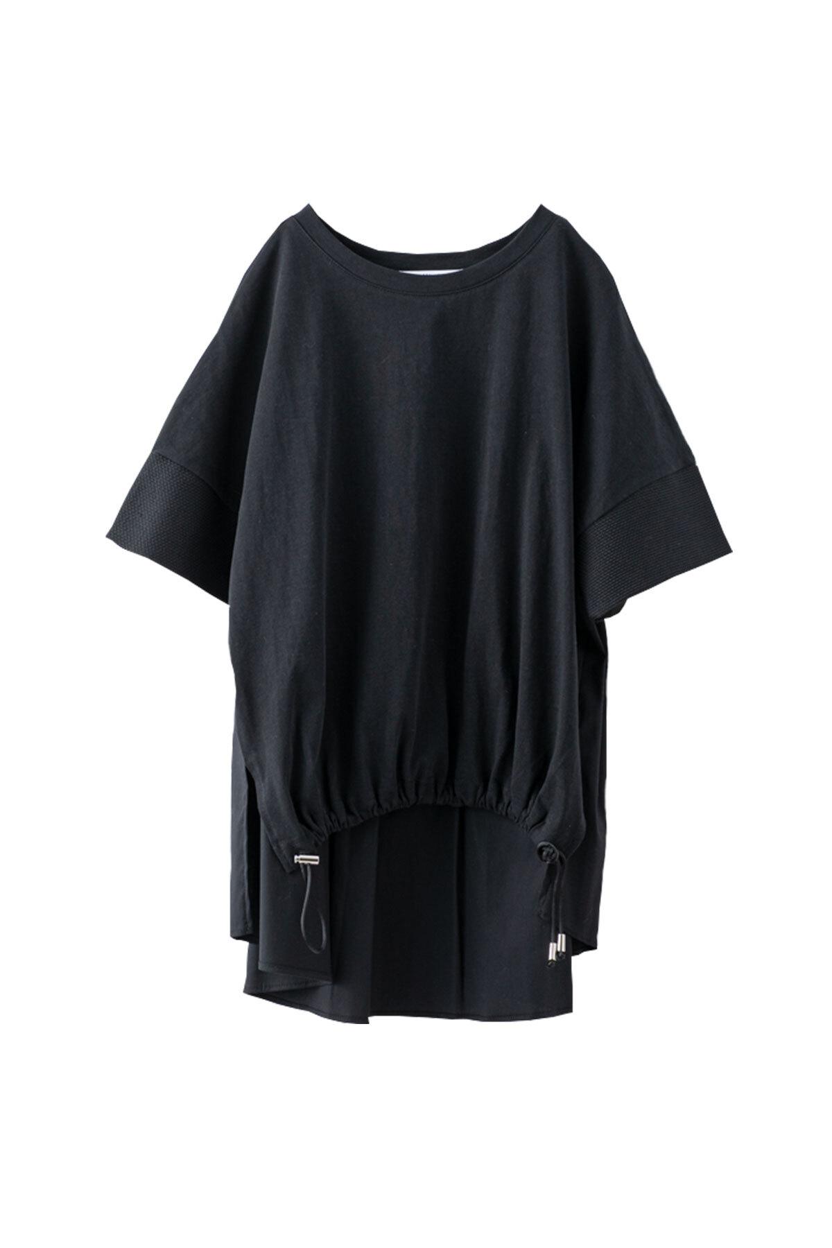 バックプリーツTシャツ <ブラック> #2