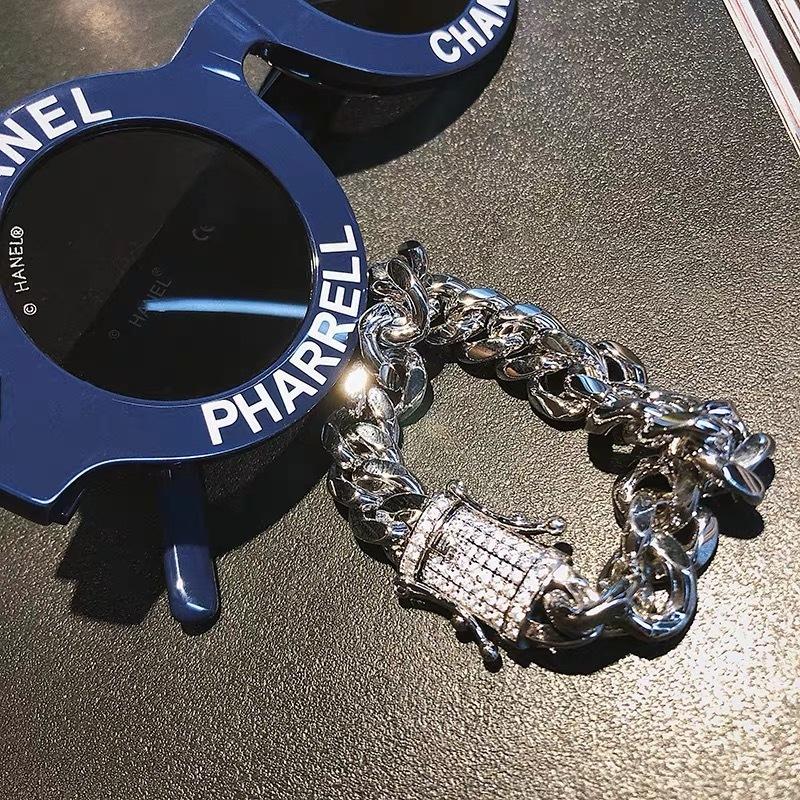 glitter chain bracelet