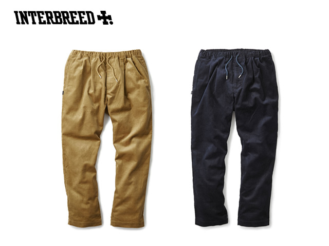 【restock】INTERBREED|PLEATED CORDUROY RELAX TROUSER