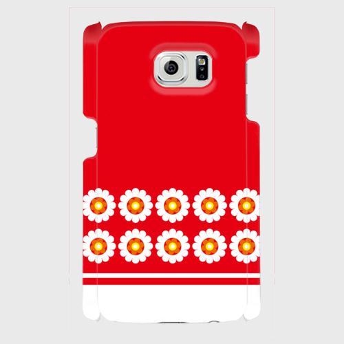 パターン花柄(赤)/ Androidスマホケース(ハードケース)